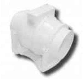 Szellőzőventilátor QMF-100 (Csőközé építhető) Aerauliqa